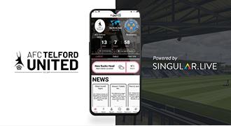 Singular社のグラフィックを使用したテルフォード・ユナイテッドのアプリを若手開発者が制作
